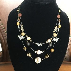 CHICO'S three-strand necklace